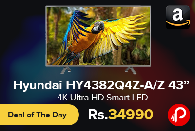"Hyundai HY4382Q4Z-A/Z 43"" 4K Ultra HD Smart LED"