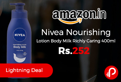 Nivea Nourishing Lotion Body Milk Richly Caring 400ml