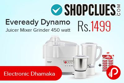 Eveready Dynamo Juicer Mixer Grinder 450 watt