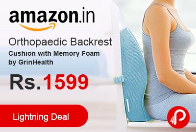 Orthopaedic Backrest Cushion with Memory Foam