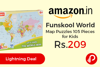 Funskool World Map Puzzles 105 Pieces for Kids