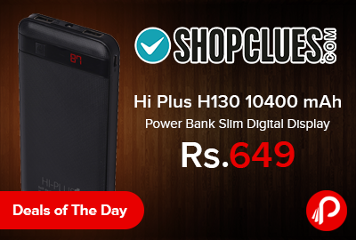 Hi Plus H130 10400 mAh Power Bank Slim Digital Display