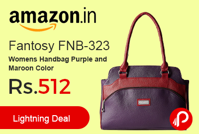Fantosy FNB-323 Womens Handbag Purple and Maroon Color