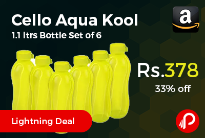 Cello Aqua Kool Polypropylene 1.1 ltrs Bottle Set of 6