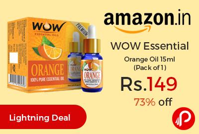 WOW Essential Orange Oil 15ml