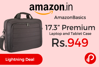"AmazonBasics 17.3"" Premium Laptop and Tablet Case"