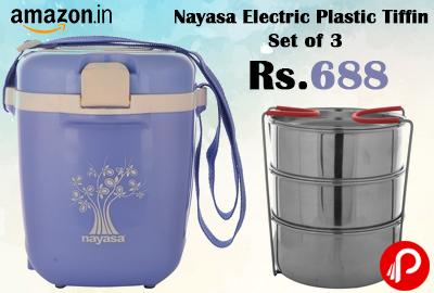 Nayasa Electric Plastic Tiffin