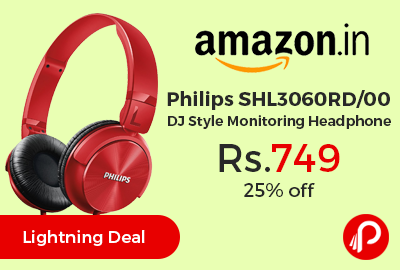 Philips SHL3060RD/00 DJ Style Monitoring Headphone