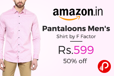 Pantaloons Men's Shirt by F Factor