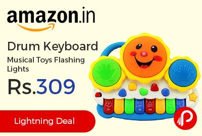 Drum Keyboard Musical Toys Flashing Lights