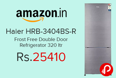 Haier HRB-3404BS-R Frost Free Double Door Refrigerator 320 ltr