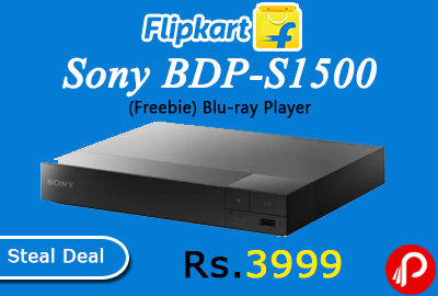 Sony BDP-S1500 (Freebie) Blu-ray Player