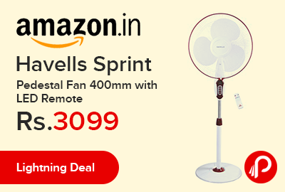 Havells Sprint Pedestal Fan 400mm with LED Remote