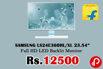 "SAMSUNG LS24E360HL/XL 23.54"" Full HD LED Backlit Monitor"