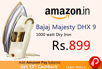 Bajaj Majesty DHX 9 1000 watt Dry Iron
