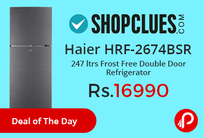 Haier HRF-2674BSR 247 ltrs Frost Free Double Door Refrigerator