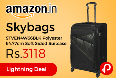 Skybags STVEN4W66BLK Polyester 64.77cm Soft Sided Suitcase