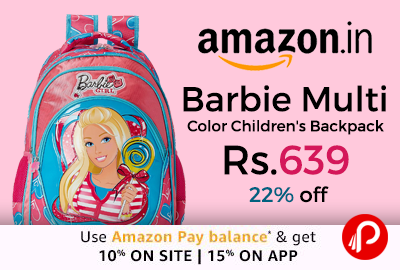 Barbie Multi Color Children's Backpack