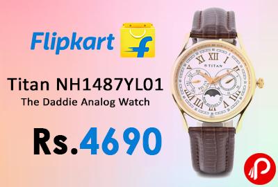 Titan NH1487YL01 The Daddie Analog Wrist Watch a
