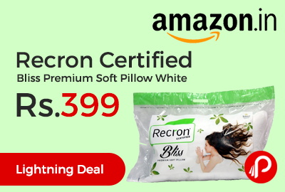 Recron Certified Bliss Premium Soft Pillow White