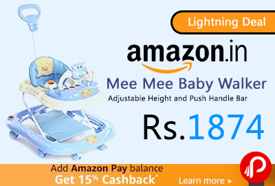 Mee Mee Baby Walker Adjustable Height and Push Handle Bar