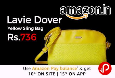 Lavie Dover Yellow Sling Bag