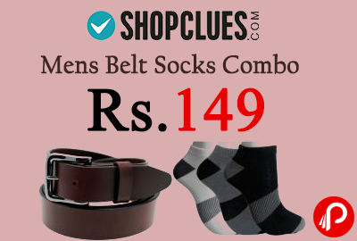 Mens Belt Socks Combo