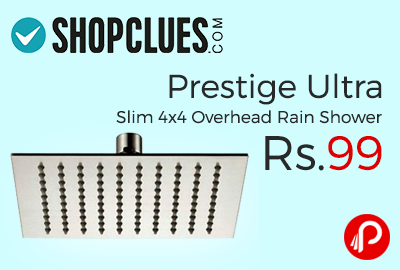 Prestige Ultra Slim 4x4 Overhead Shower