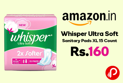 Whisper Ultra Soft Sanitary Pads XL 15 Count