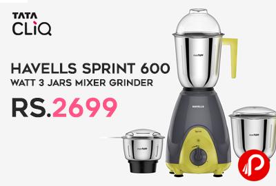 Havells Sprint 600 Watt 3 Jars Mixer Grinder