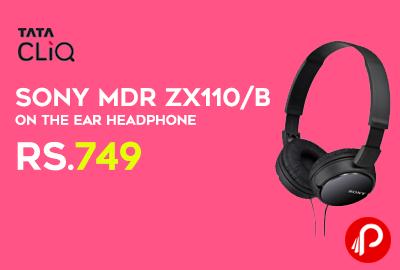 Sony MDR ZX110/B On the Ear Headphone
