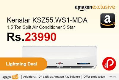 Kenstar KSZ55.WS1-MDA 1.5 Ton Split Air Conditioner 5 Star