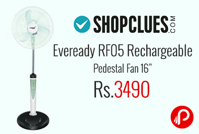 Eveready RF05 Rechargeable Pedestal Fan