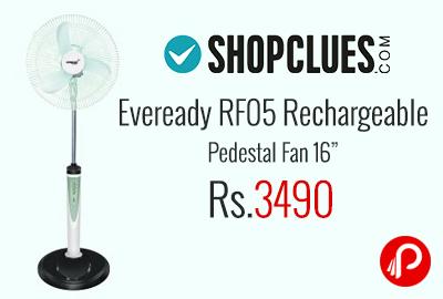 Eveready RF05 Rechargeable Pedestal Fan