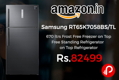 Samsung RT65K7058BS/TL 670 ltrs Frost Free Freezer on Top Refrigerator