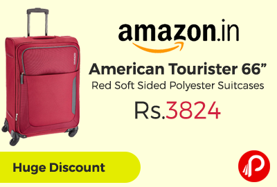 "American Tourister 66"" Red Soft Sided Polyester Suitcases"