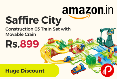 Saffire City Construction 03 Train Set with Movable Crain
