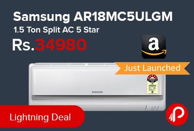Samsung AR18MC5ULGM 1.5 Ton Split AC 5 Star