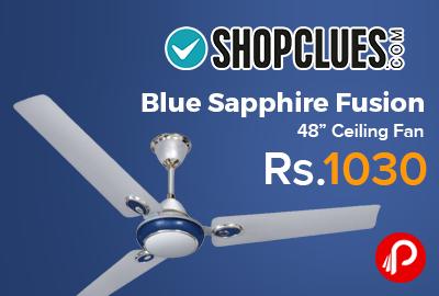 "Blue Sapphire Fusion 48"" Ceiling Fan"