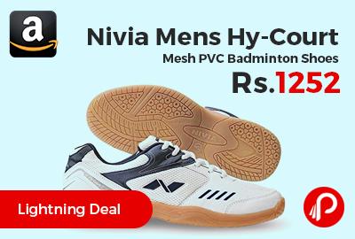 Nivia Mens Hy-Court Mesh PVC Badminton Shoes