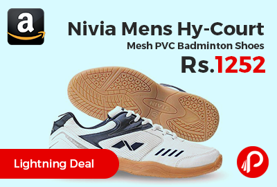 Nivia Mens Hy-Court Mesh PVC Badminton Shoes