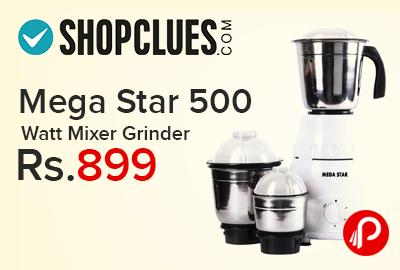 Mega Star 500 Watt Mixer Grinder