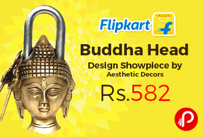 Buddha Head Design Showpiece