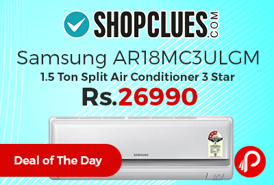 Samsung AR18MC3ULGM 1.5 Ton Split Air Conditioner 3 Star
