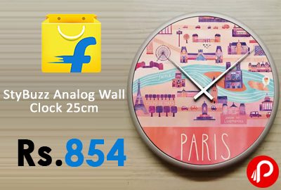 StyBuzz Analog Wall Clock 25cm