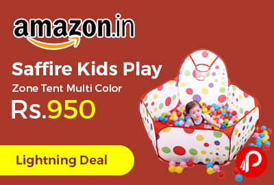 Saffire Kids Play Zone Tent Multi Color at Rs.950 Only - Amazon