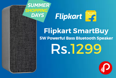 Flipkart SmartBuy 5W Powerful Bass Bluetooth Speaker