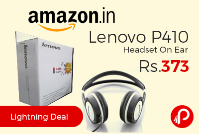 Lenovo P410 Headset OnEar at Rs.373 Only - Amazon