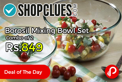 Borosil Mixing Bowl Set Combo of 2