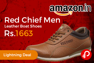 Red Chief Men Leather Boat Shoes